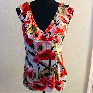 Floral Ruffle Top - NWOT